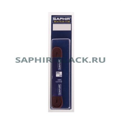 Шнурки Хлопковый Saphir 90см. Круглые. Тонкие