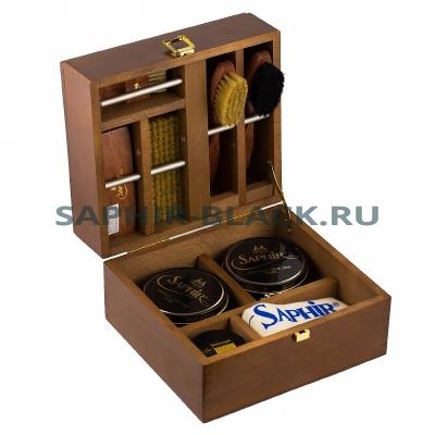 Ларец деревянный с набором обувных средств Saphir Medaille БОЛЬШОЙ