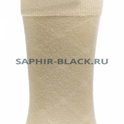 Носки мужские, Saphir, бежевые, хлопок (48%), микромодал (47%), лайкра (5%)