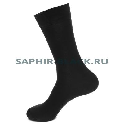 Носки мужские, Saphir, черные, хлопок (80%), нейлон комфорт (20%)