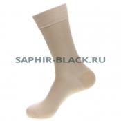 Носки мужские, Saphir, бежевые, хлопок (80%), нейлон (20%)