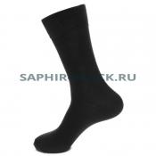 Носки мужские, Saphir, черные, шерсть (90%), бамбук (10%)
